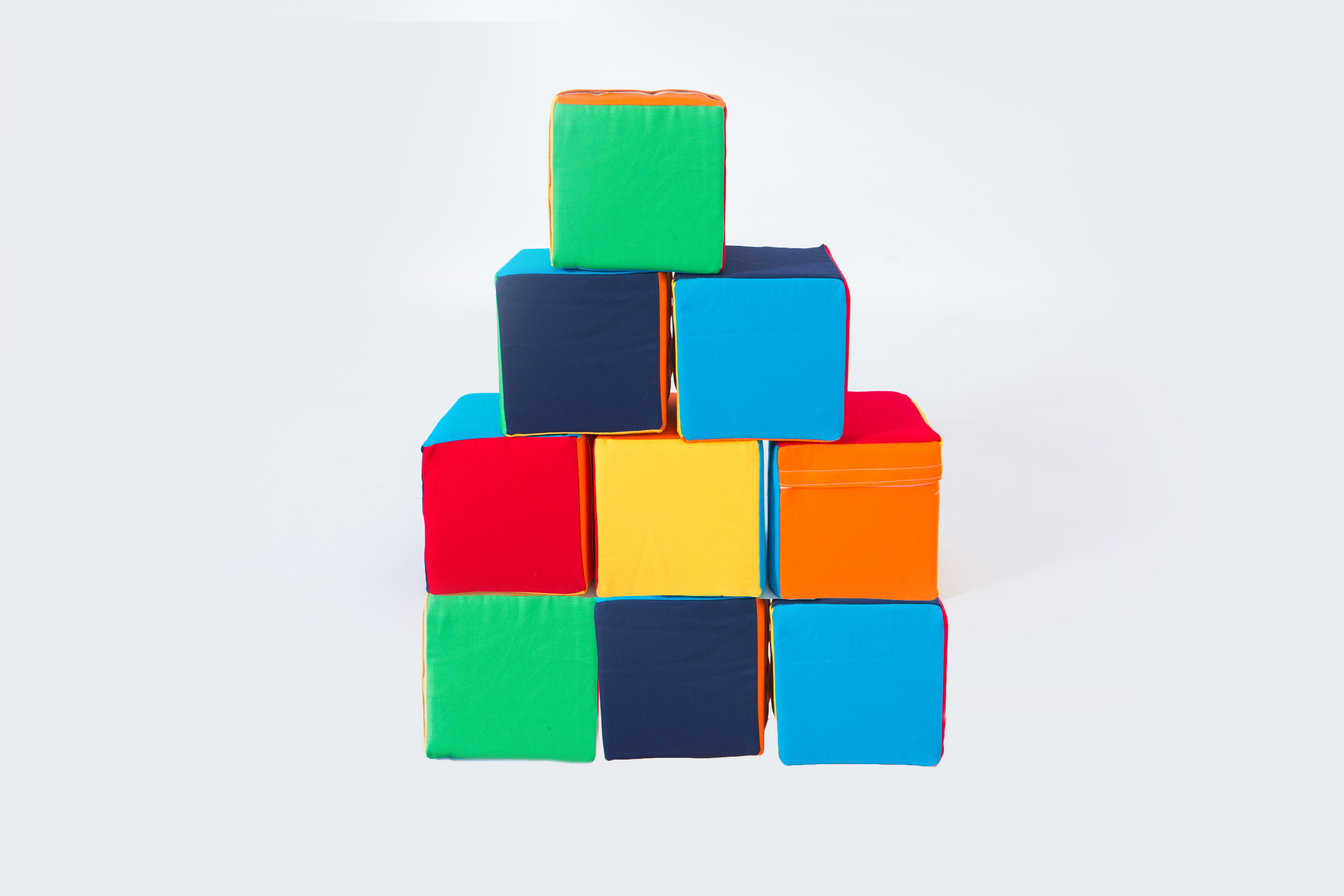 Molitanová stavebnice 9 dílů barevné kostky Velikost L - 20 cm